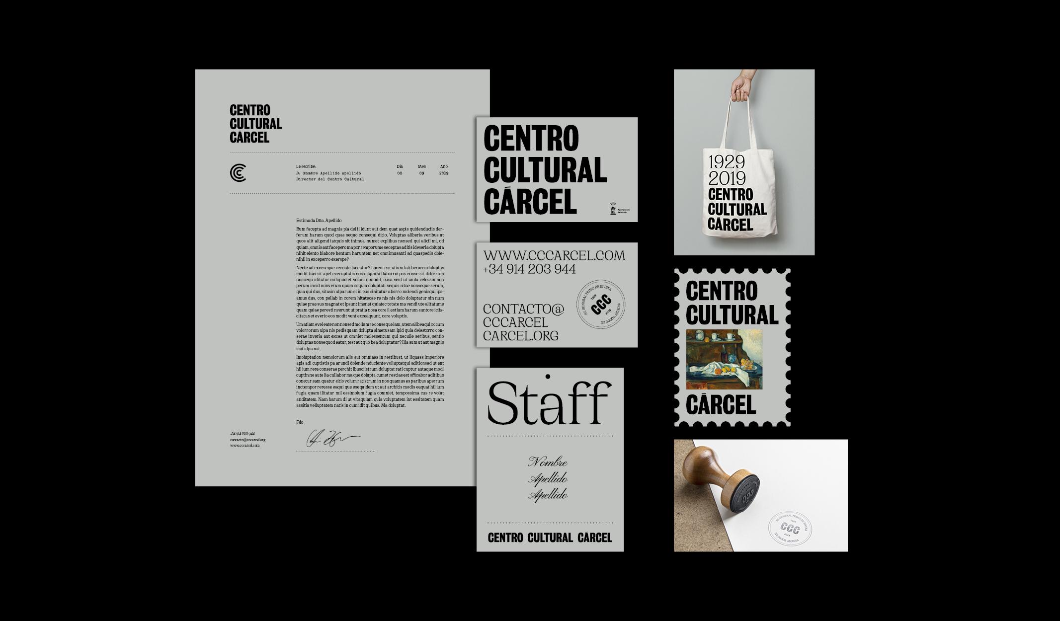 Branding y comunicación del nuevo Centro Cultural de la Cárcel by Ángel Aldavero - Creative Work