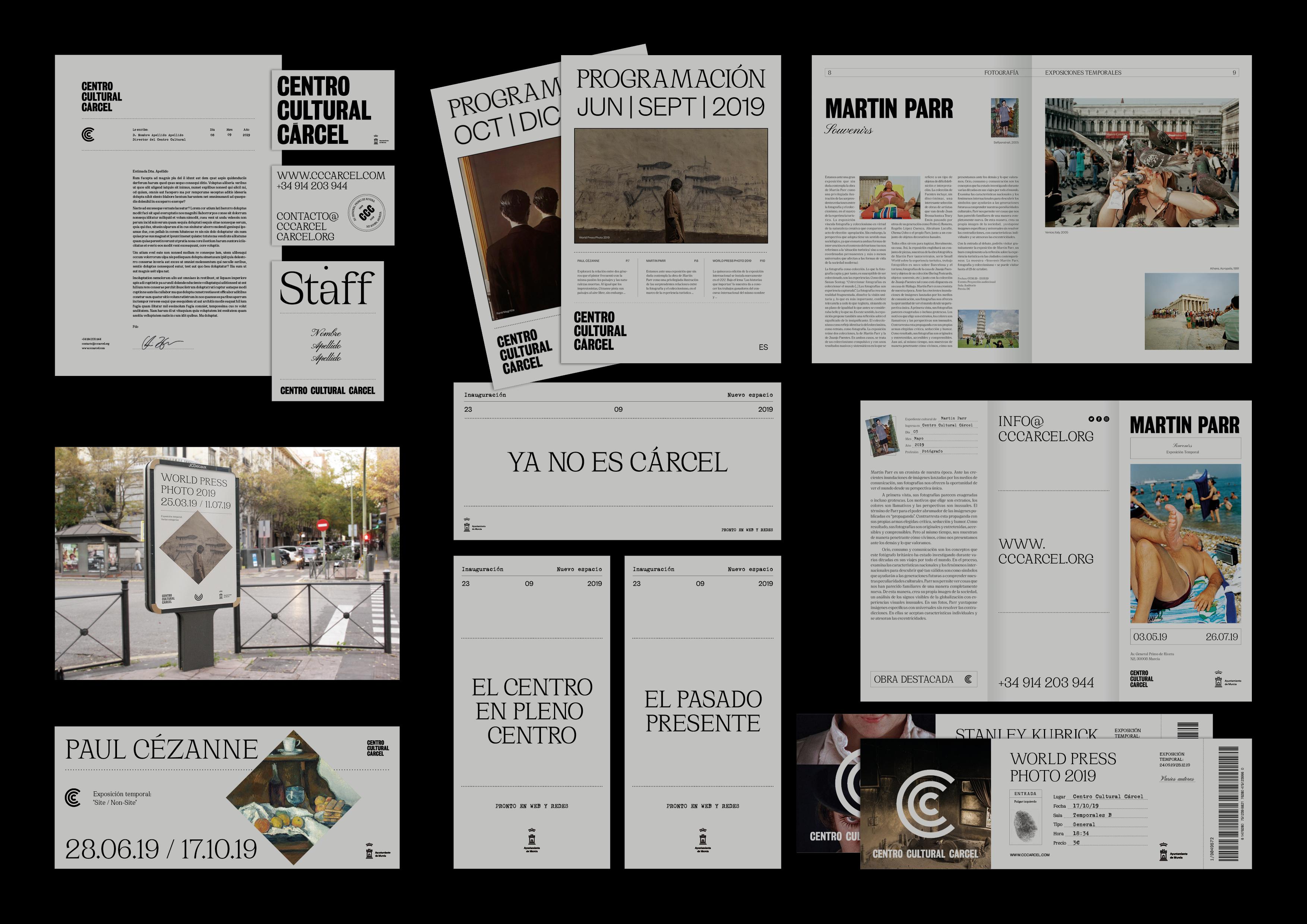 Branding y comunicación del nuevo Centro Cultural de la Cárcel by Ángel Aldavero - Creative Work - $i