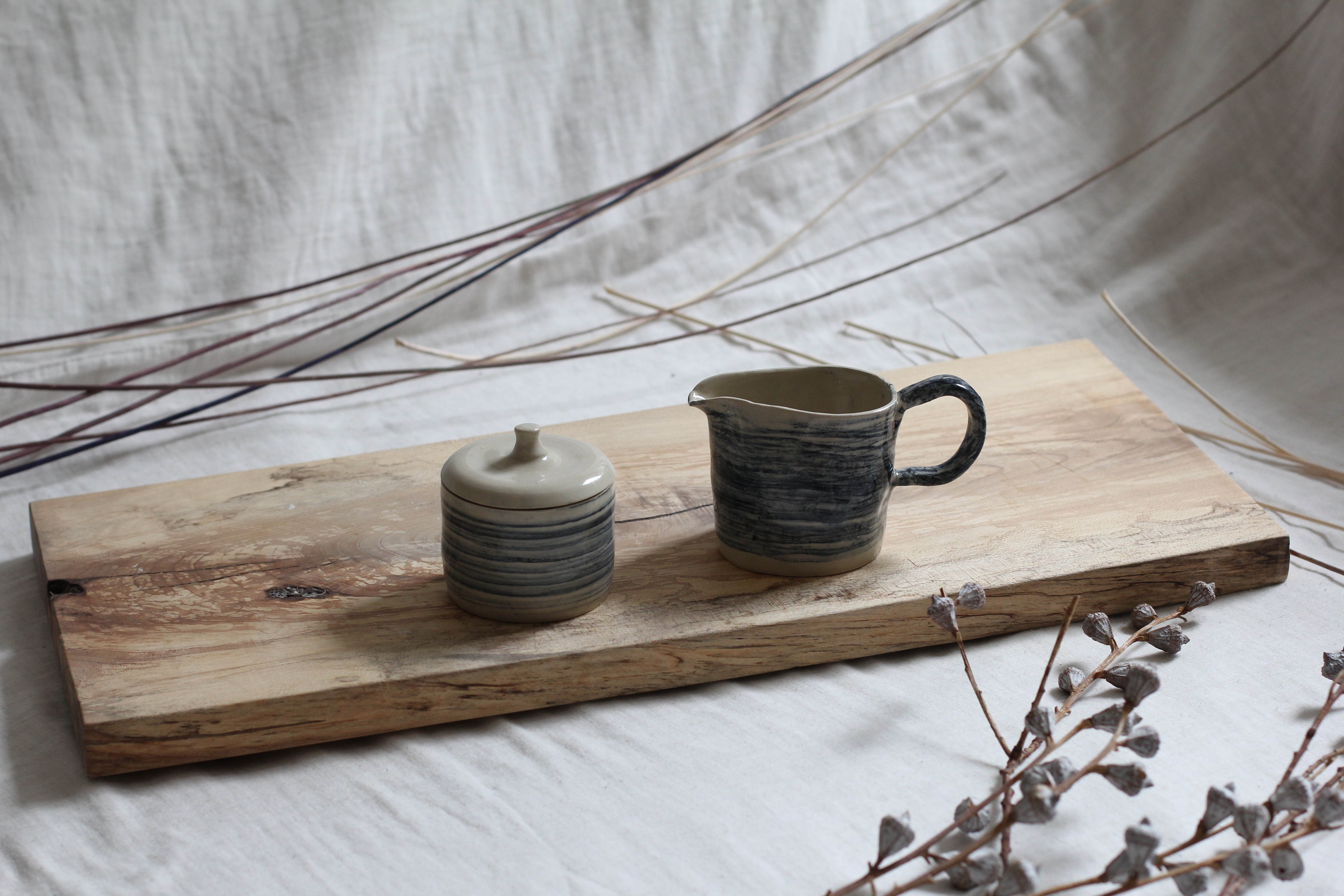Tableware service with hand painted brush strokes by Daniela Franz - Creative Work - $i