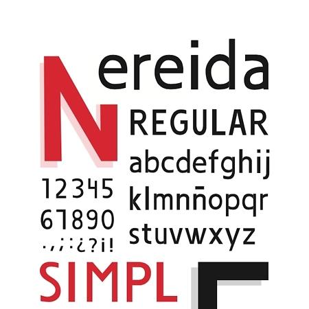 Tipografía Nereida