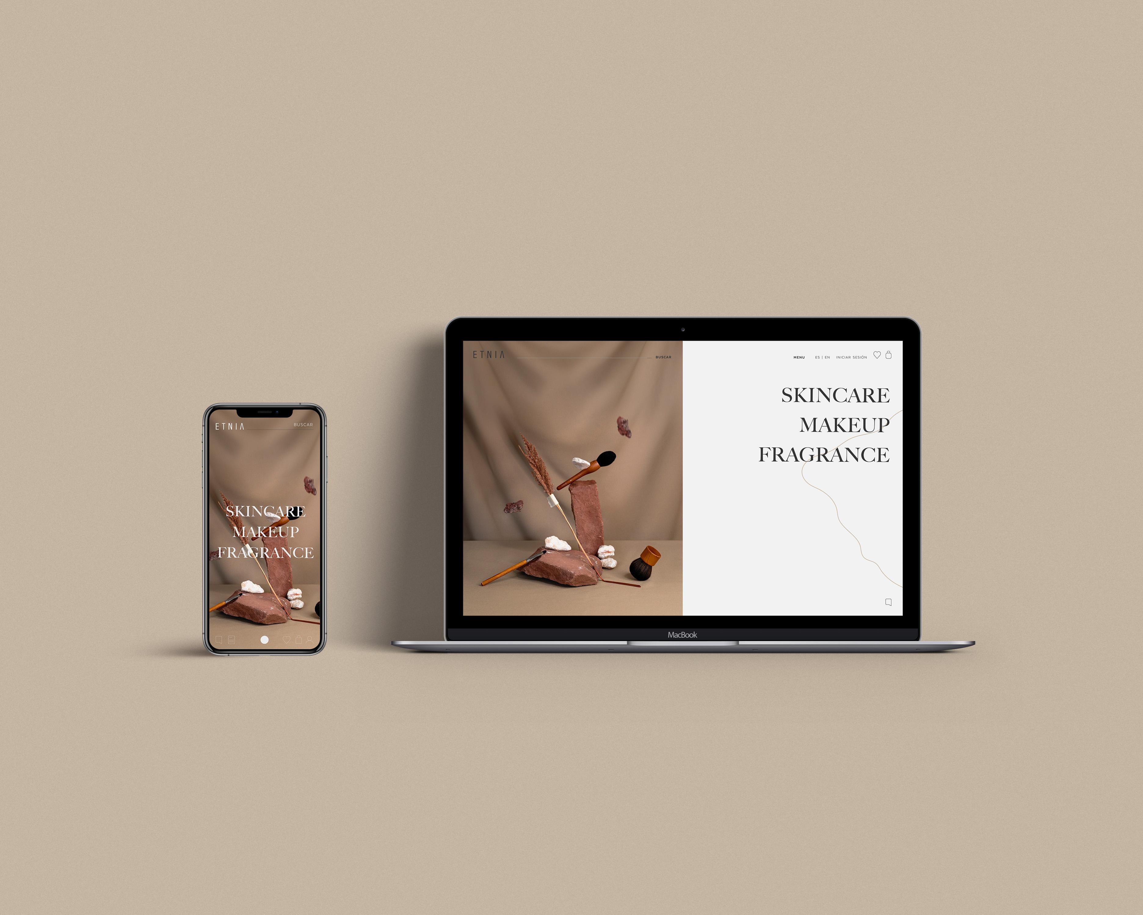 Web - Etnia Cosmetics - by KRAFTED - Creative Work