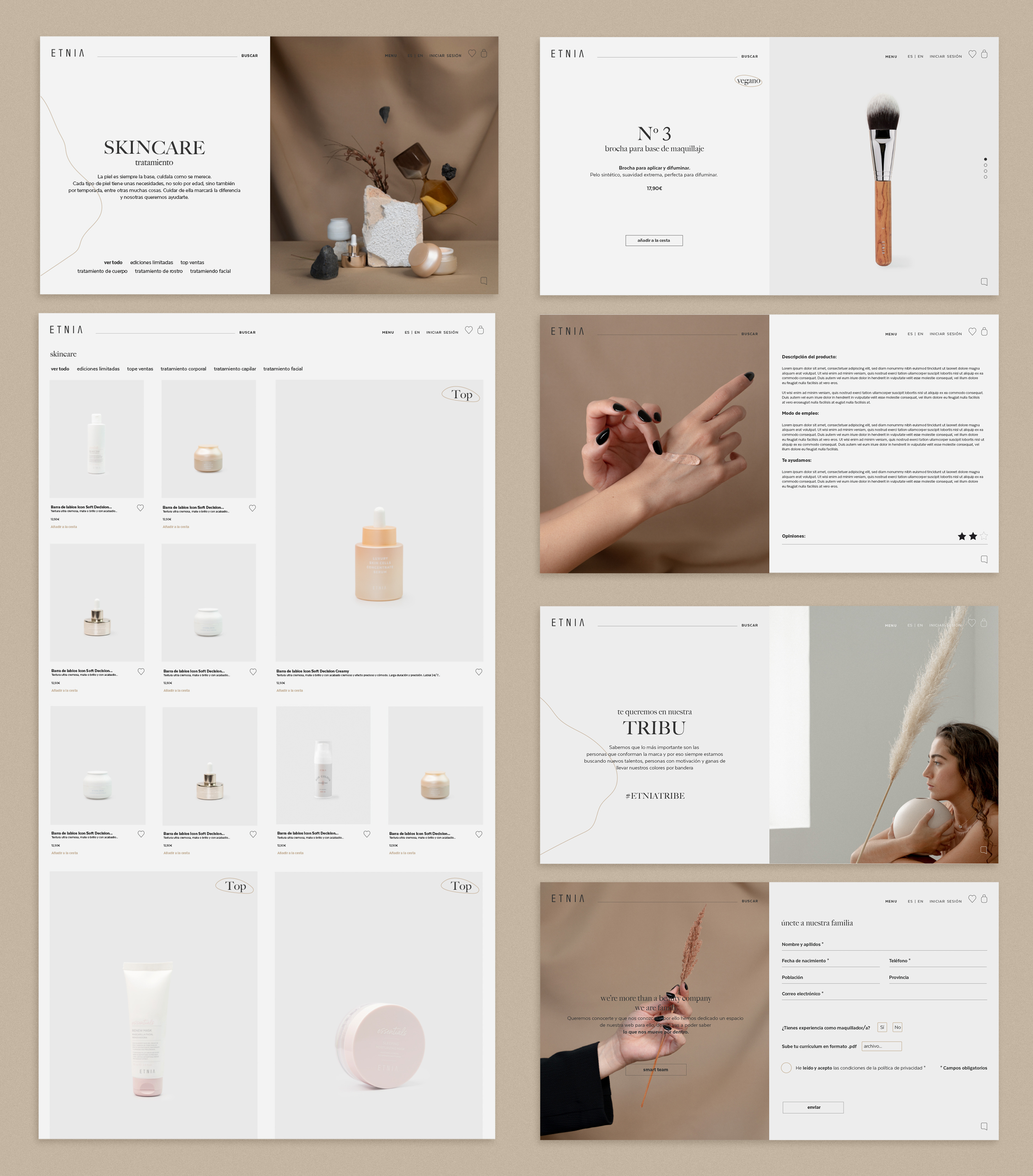 Web - Etnia Cosmetics - by KRAFTED - Creative Work - $i