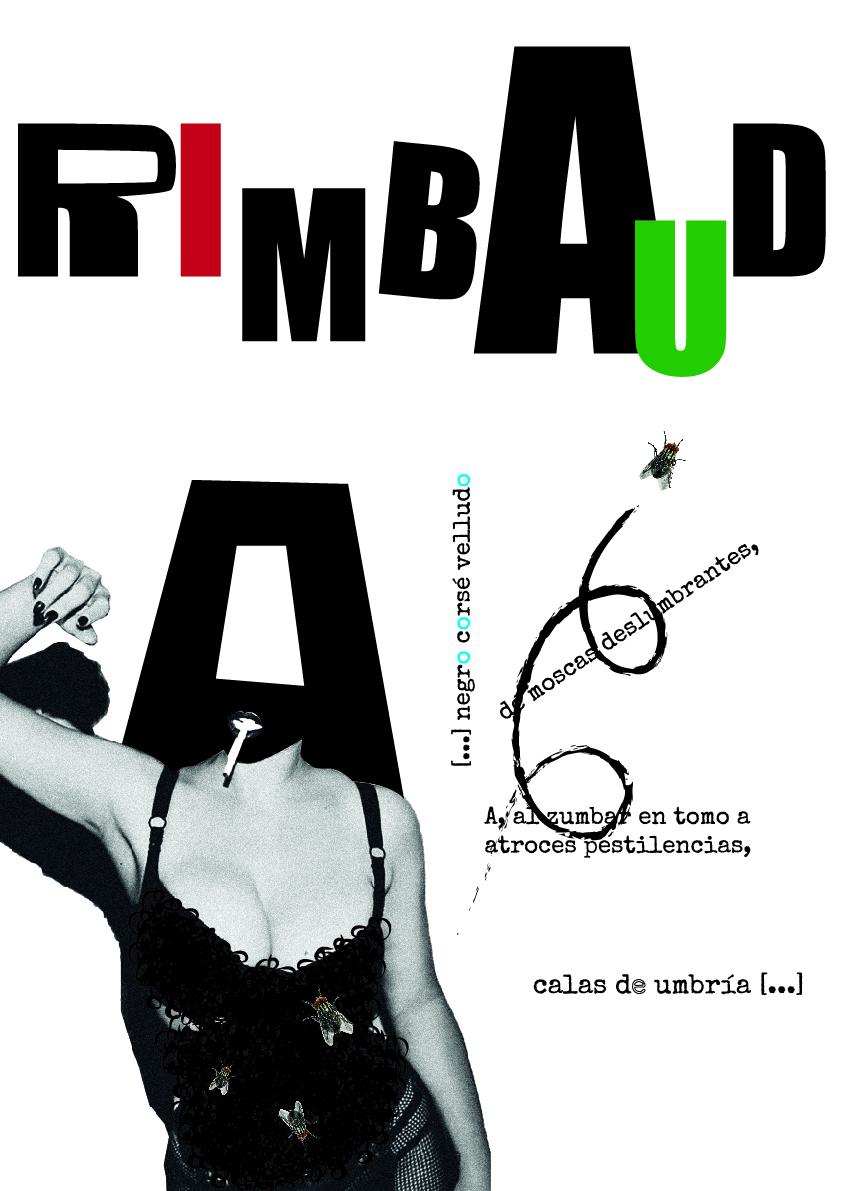 'Dadá Rimbaud' y 'New Neruda': propuestas de cartel tipográfico by Sandra Ramos Hermida - Creative Work