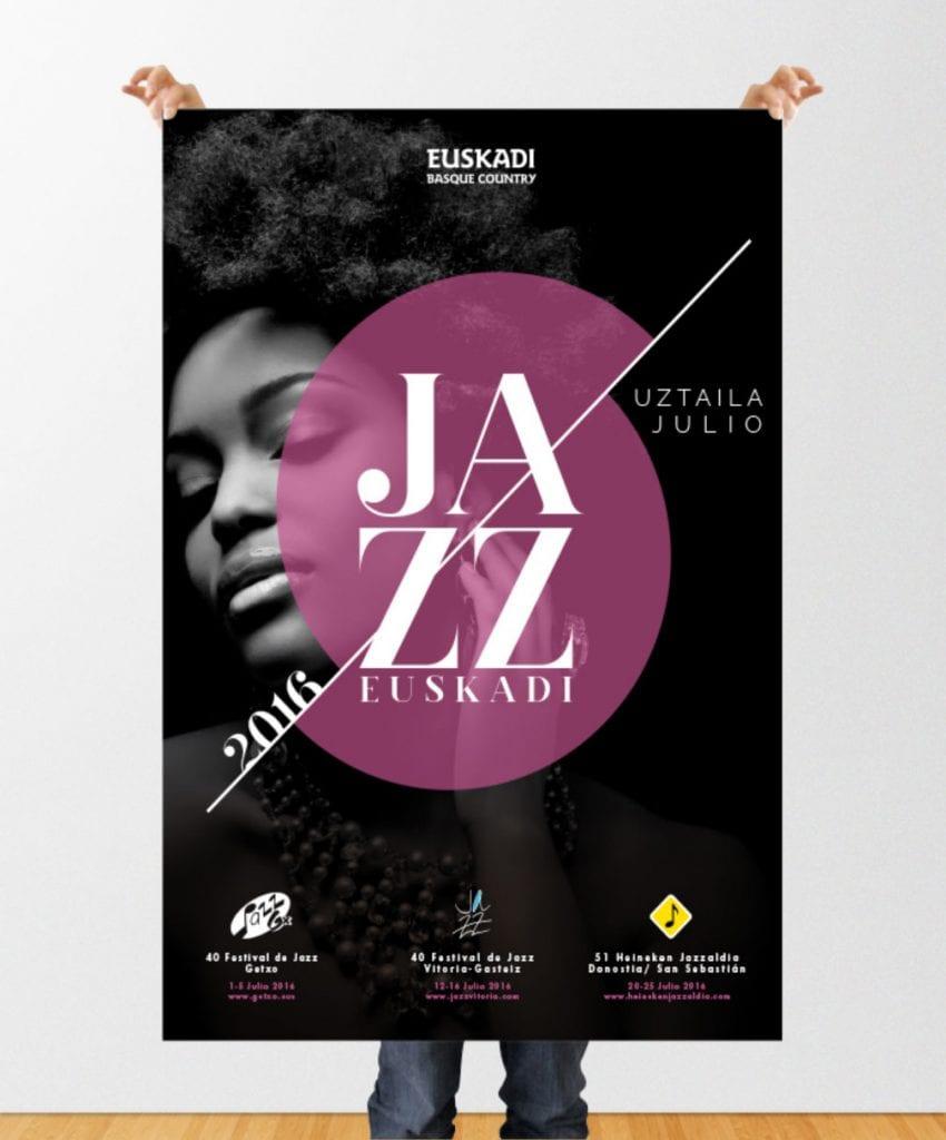 Campaña promocional Festival Jazz Euskadi by La Factoría Gráfica - Creative Work