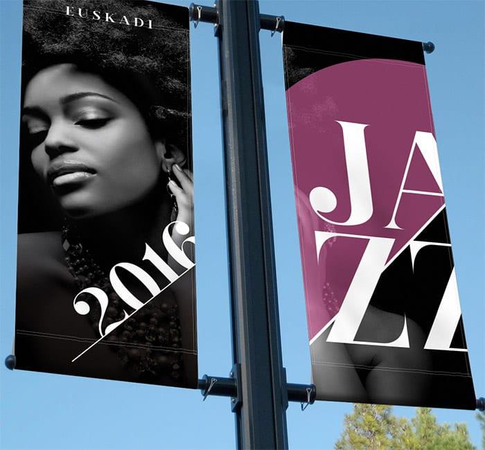 Campaña promocional Festival Jazz Euskadi by La Factoría Gráfica - Creative Work - $i