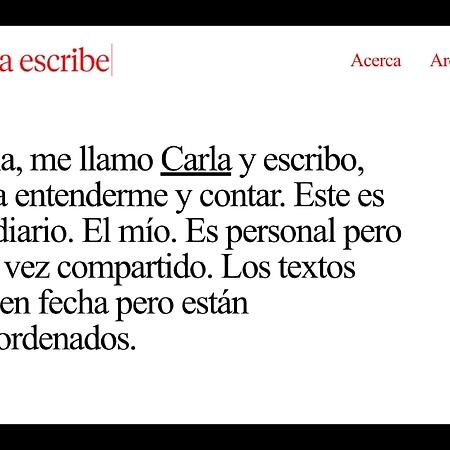 Carla escribe