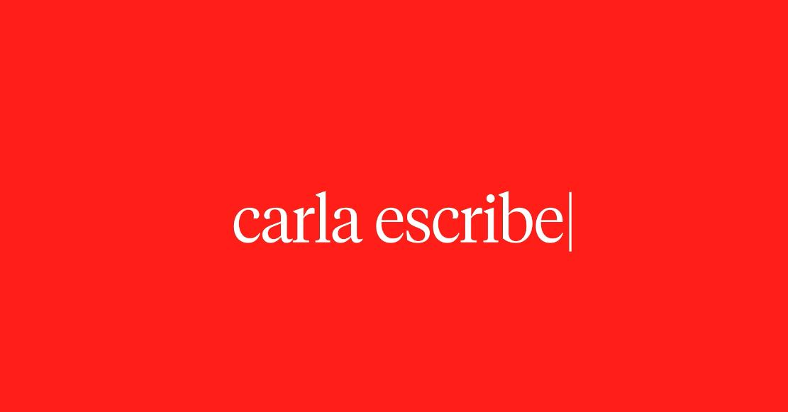 Carla escribe by Alberto Molina Arce - Creative Work - $i