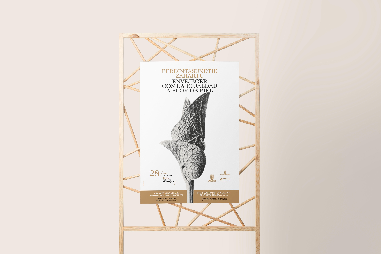 CARTEL _ ENVEJECER CON LA IGUALDAD A FLOR DE PIEL by Sormen Komunikazioa, S.L. - Creative Work - $i