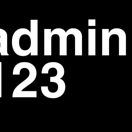 admin 123