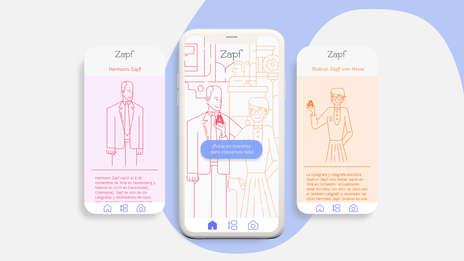 Los Zapf | Diseño UI/UX by Ana Alcubierre, Garbiñe Herreros, Maitane Bautista - Creative Work