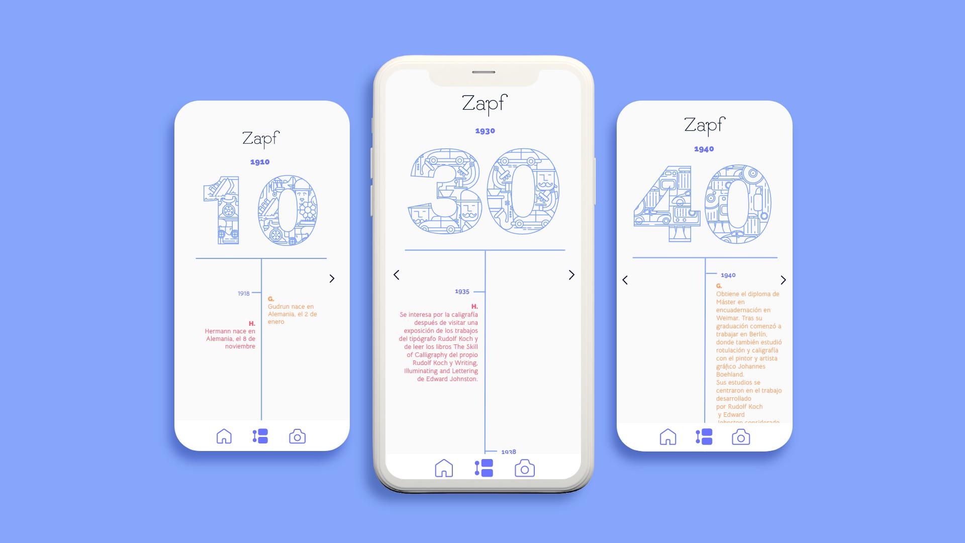 Los Zapf | Diseño UI/UX by Ana Alcubierre, Garbiñe Herreros, Maitane Bautista - Creative Work - $i