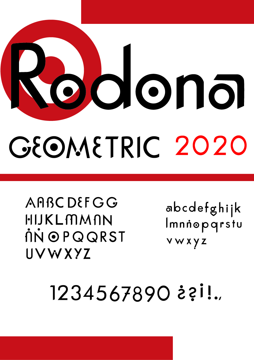 Espécimen Tipográfico RODONA by Raquel Castañeda Gelabert - Creative Work