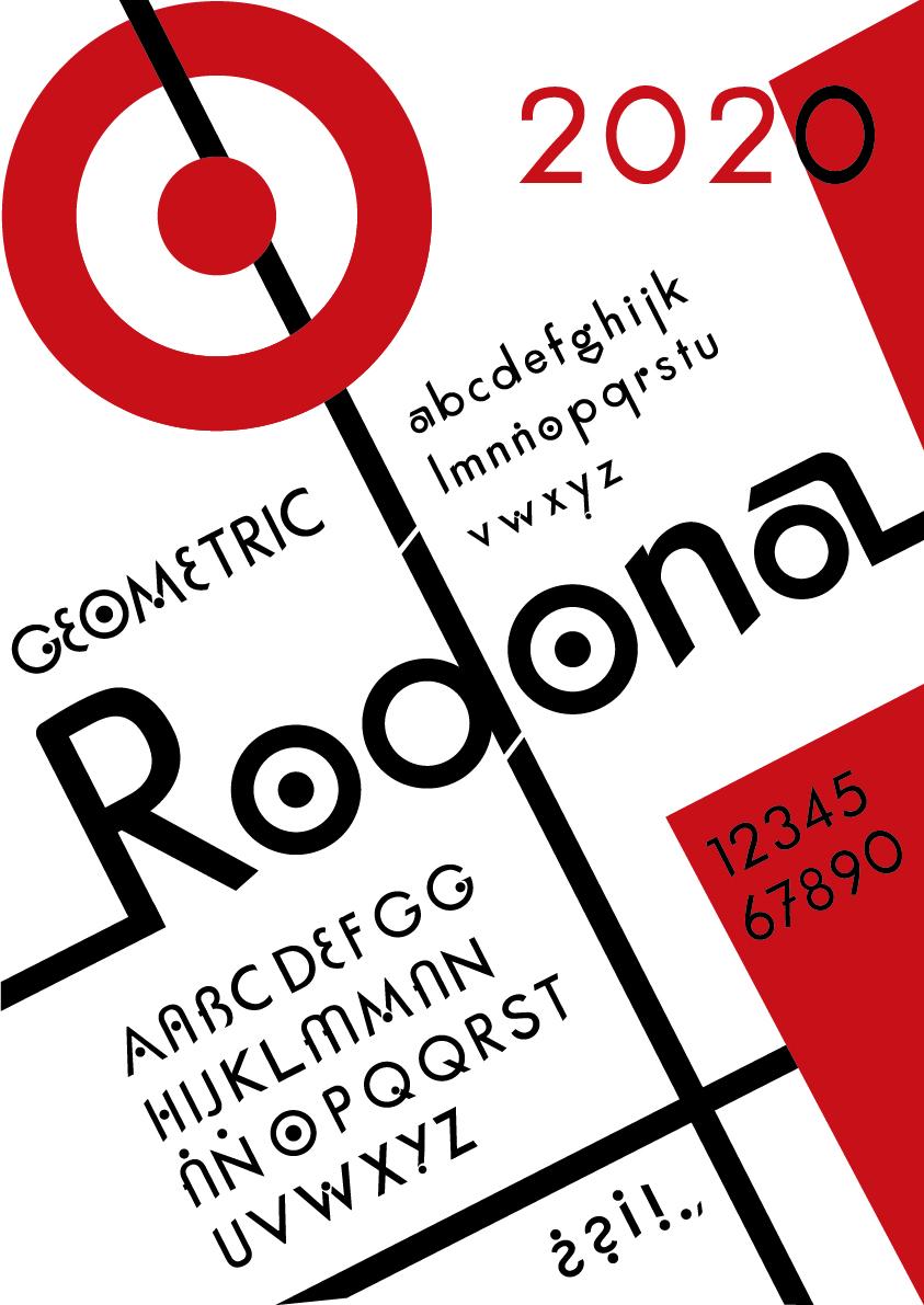 Espécimen Tipográfico RODONA by Raquel Castañeda Gelabert - Creative Work - $i