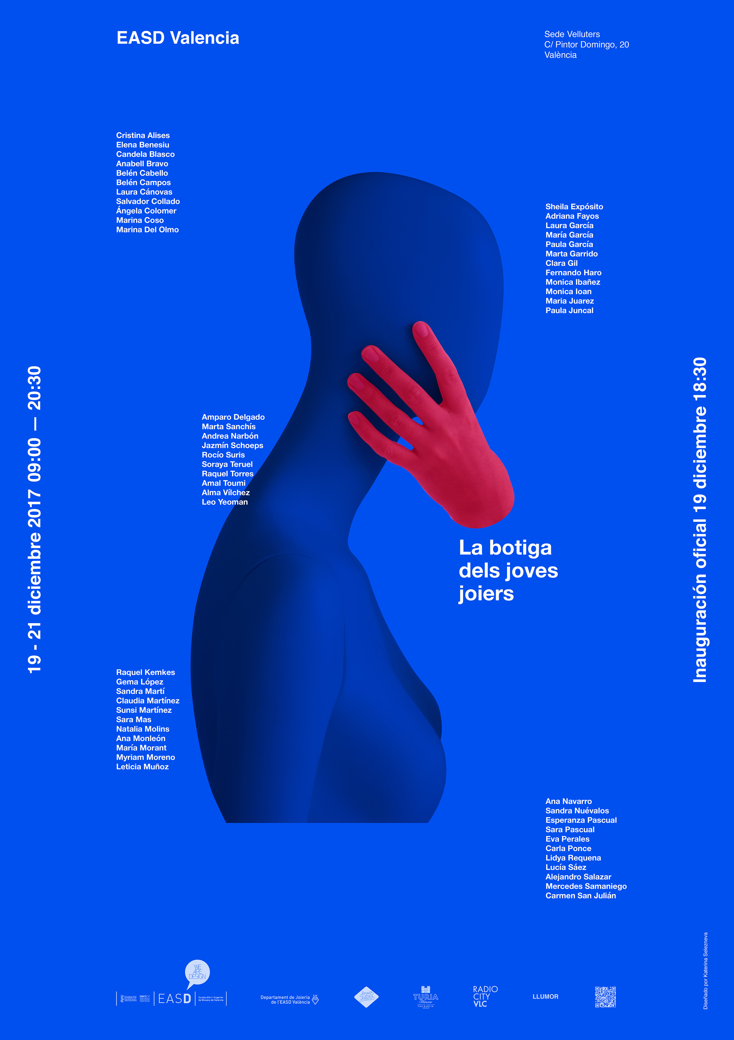Posters designed for jewelry exhibition «La Botiga dels Joves Joiers» by Ekaterina Selezneva - Creative Work