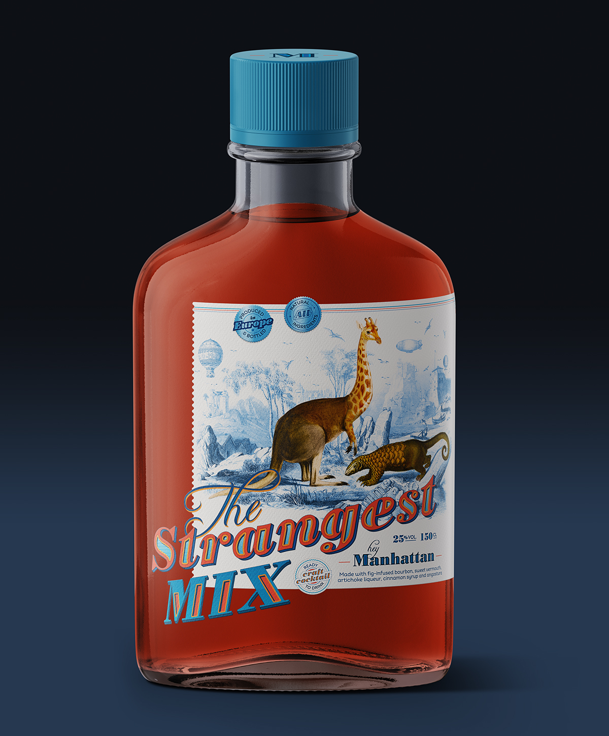 Bottle label design for The Strangest Mix by Tea for two - Creative Work - $i