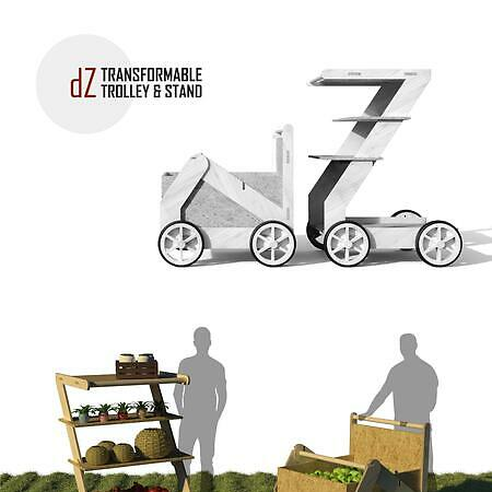 dZ - Transformable Trolley & Stand for an Ecovillage