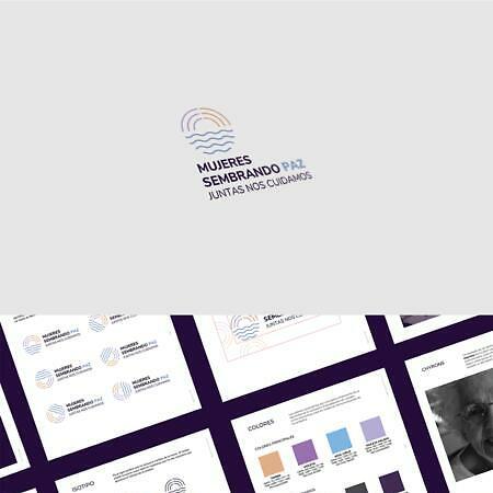 MUJERES SEMBRANDO PAZ. Branding and Infographics.