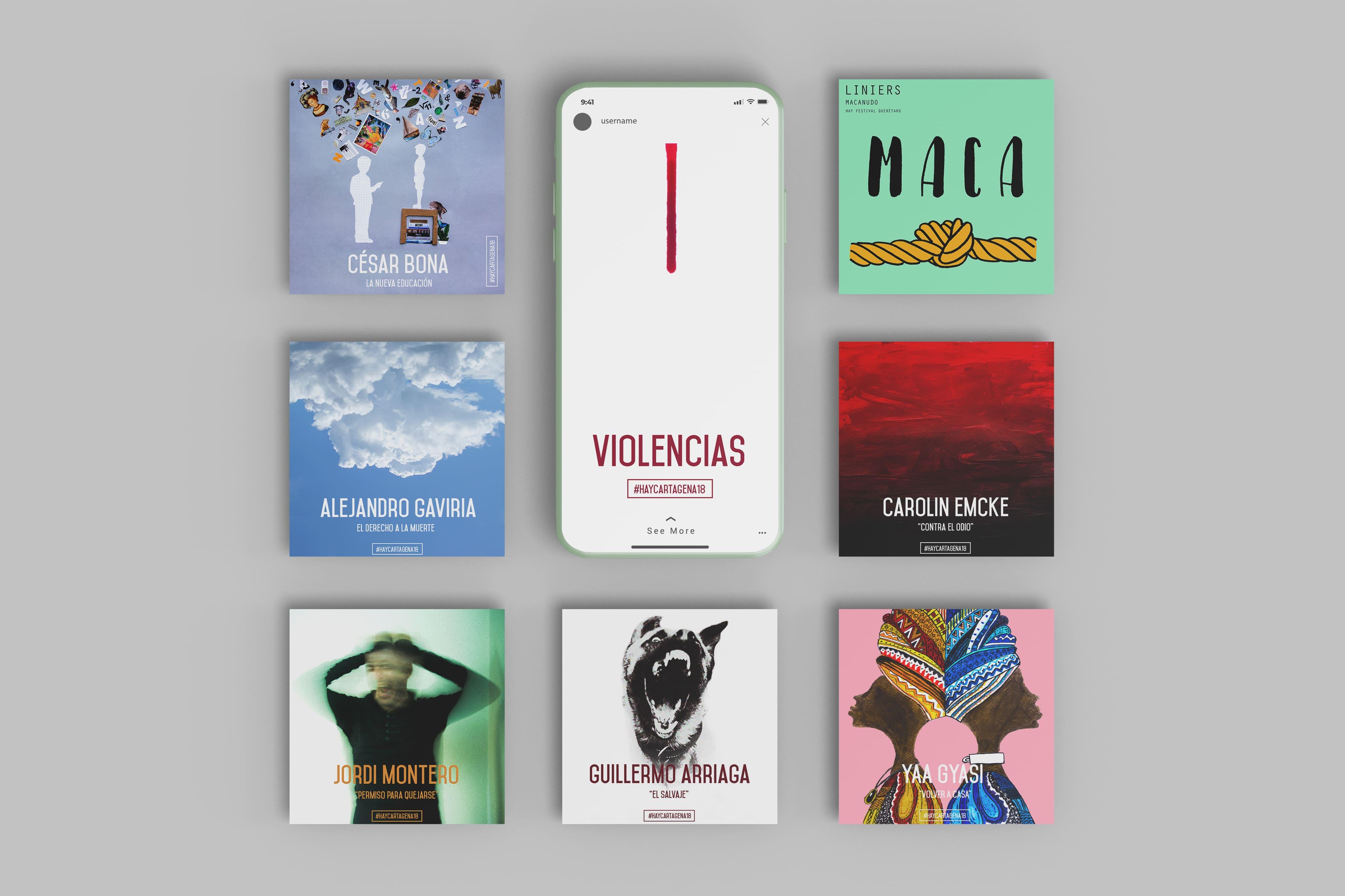 Carteles Hay Festival by Beatriz Pérez Marín - Creative Work - $i
